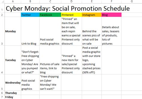 retail schedule template prepare for cyber monday with these tips