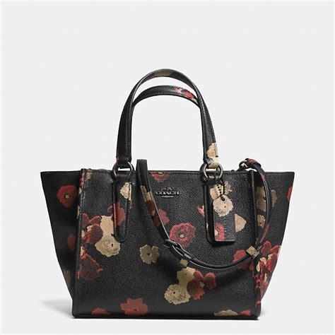 Coach Mini Floral coach mini crosby carryall in floral print leather coach