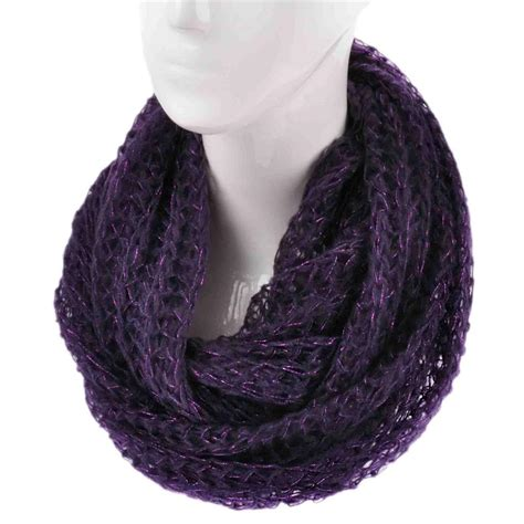 knit snood scarf fashion knitted snood warm winter two tone cowl