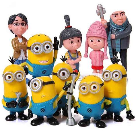 Family Minion 3 despicable me 2 the minions family model toys pvc