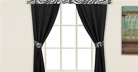 light weight curtains zebra 5 piece decorative curtain set by united curtains