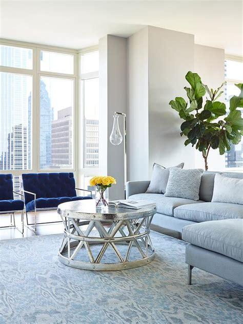 blue  gray living room design contemporary living room