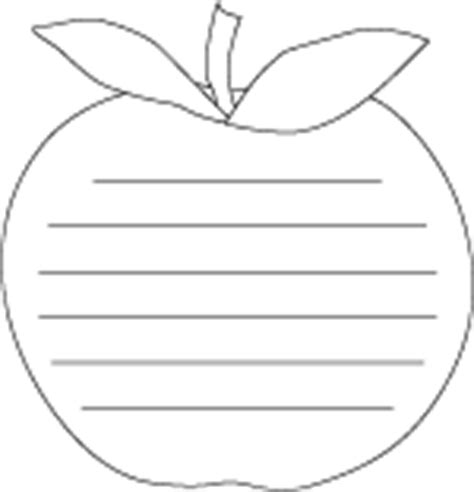 thesis template for apple pages apple shape paper printable with lines for writing