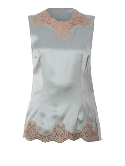 Lace Top Tank Top Bahan Lace lace trimmed satin top by dolce gabbana tops tank