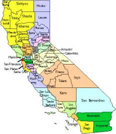 printable map of california map counties and districts