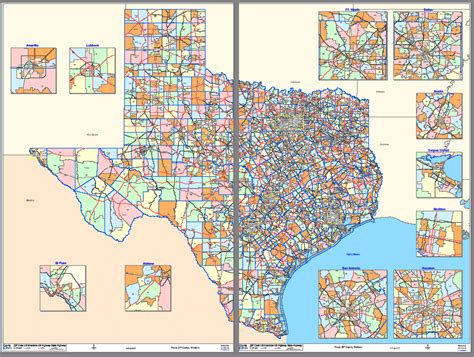 texas zip code maps zip texas