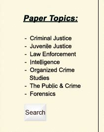 Criminal Justice Term Papers by Criminal Justice Term Paper Help