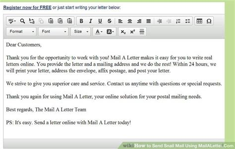 sending a letter 2 how to send snail mail using mailaletter 4 steps 1620