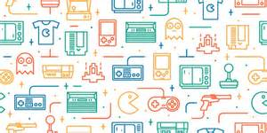 35 free game patterns for retro and vintage