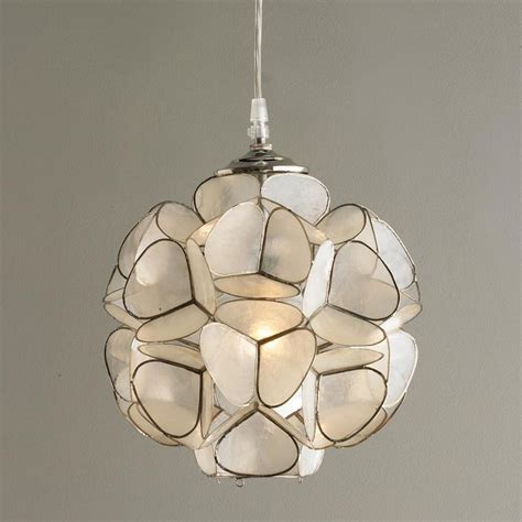 Floral Pendant Light Capiz Shell Flower Pendant Light