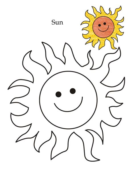 tracing sheet of sun coloring pages for kids   Coloring