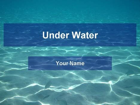 powerpoint themes ocean underwater template