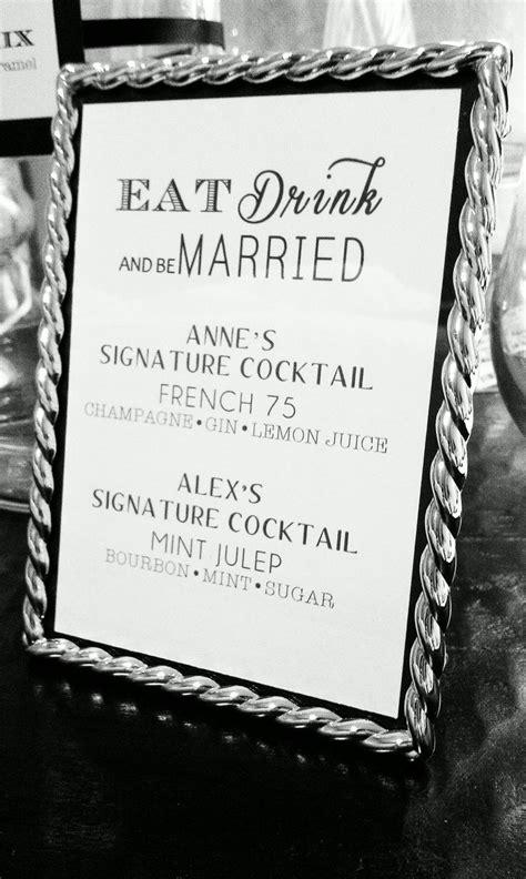 best 20 signature drink signs ideas on pinterest