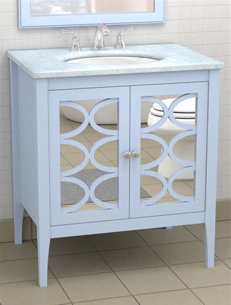 Bathroom Vanity Mirror Cabinet Vanity With Mirrored Doors Traditional Atlanta By