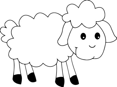 coloring page year of the sheep awesome sheep coloring pages 4 5097