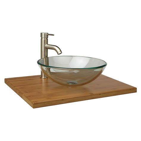 vessel sink vanity top 25 quot x 19 quot narrow depth bamboo vessel sink vanity top