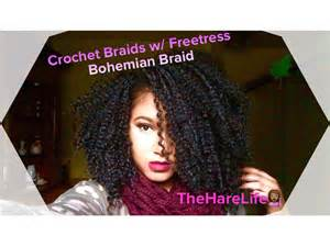 how to style crochet braids with freetress bohemia hair crochet braids w freetress bohemian braid youtube