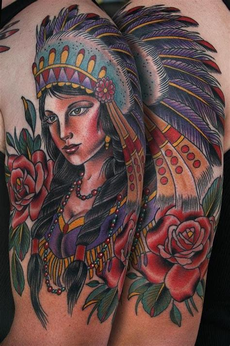 indian girl tattoo tattoos by stefan johnsson american