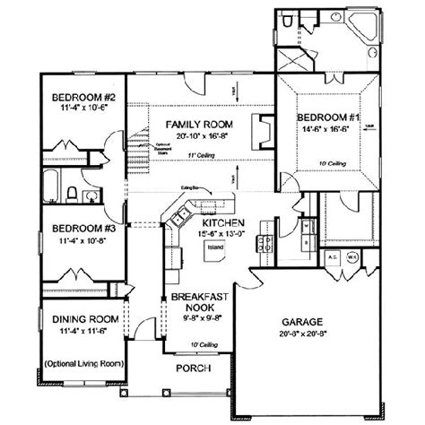 3 floor house plans 3 bedroom house plans