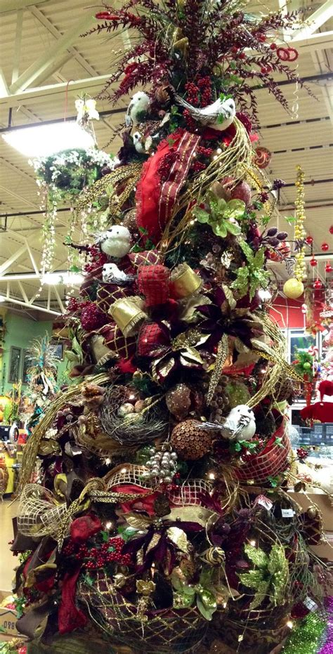 christmas burgundy gold and pearls burgundy gold and brown tree at arcadia floral home decor showroom arcadia