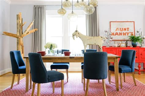 decorating with pictures folk art brings this dining room to life hgtv