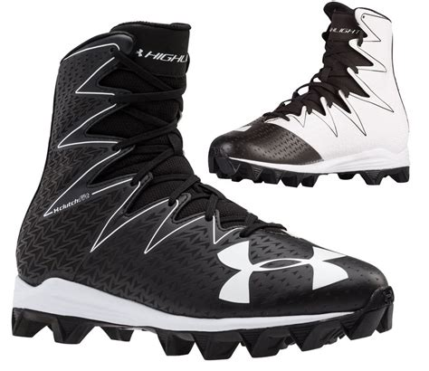 black football shoes armour mens ua highlight rm football cleats shoes