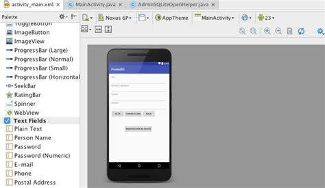 tutorial android studio sqlite usar sqlite en android studio