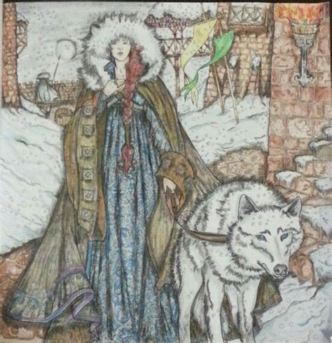 stark colors of thrones coloring book coloring sansa stark