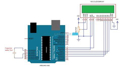 capacitor meter in circuit arduino capacitance meter