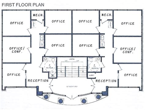 House Plans With Office by Decoration Ideas Office Building Floorplans For The