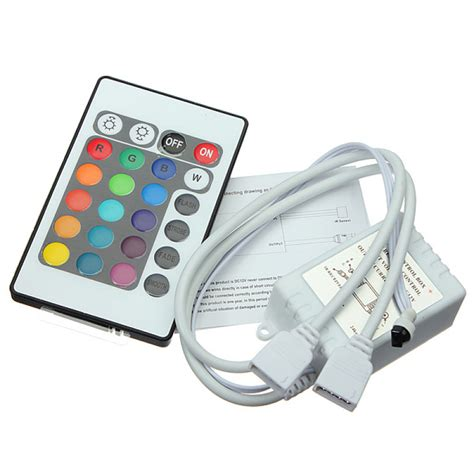 buy 24 key ir remote controller for dc 12v rgb led light