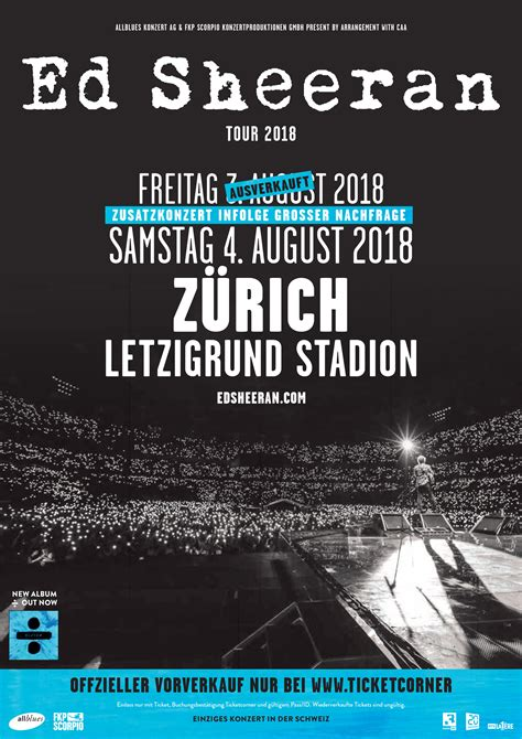 Ed Sheeran Zurich | second switzerland date announced ed sheeran official blog
