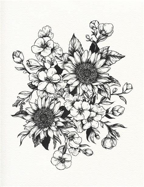 sunflower tattoos tumblr sunflower drawing sunflowers progress