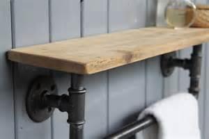 Bathroom Towel Hooks Ideas industrial steel pipe storage shelf m 246 a design