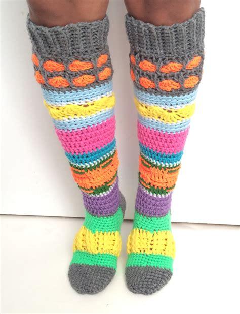 high pattern socks pdf pattern instant download crochet knee high by