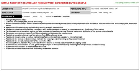 descriptions and duties free resume sles cover