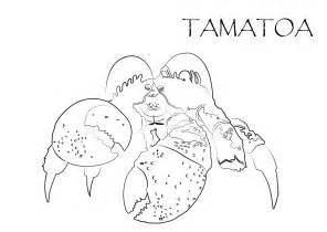 imagenes para colorear moana dibujo para colorear del personaje del cangrejo tamatoa de