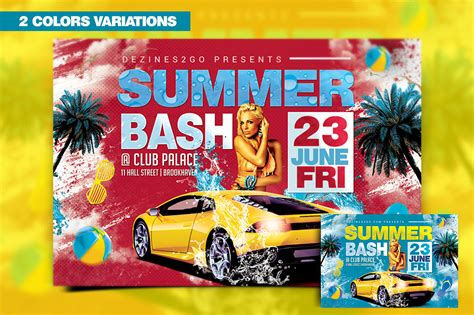 Summer Bash Flyer Template Design Psd Mixtapecovers Net Bash Flyer Template V2