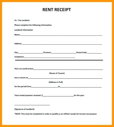 Rent Receipt Template Word Document India by Rent Receipts Template Word Rent Receipt Template 1 Rent