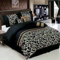 11pc black gold floral comforter sheet set cal king ebay
