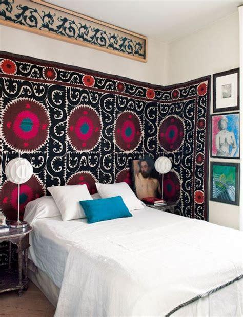 bedroom fabric wall hanging vintage suzani fabric decor feng shui interior design
