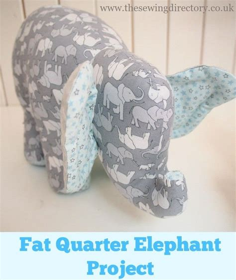fabric elephant pattern free sew this adorable soft toy elephant using just 4 fat