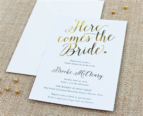 Shower Invitations by Bridal Shower Invitations Custom Bridal Shower