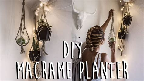 How Do You Make A Macrame Plant Hanger - diy how to make a macrame plant hanger