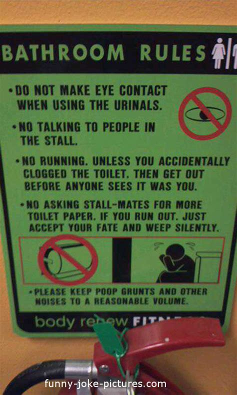 public bathroom etiquette bathroom rules sign funny joke pictures