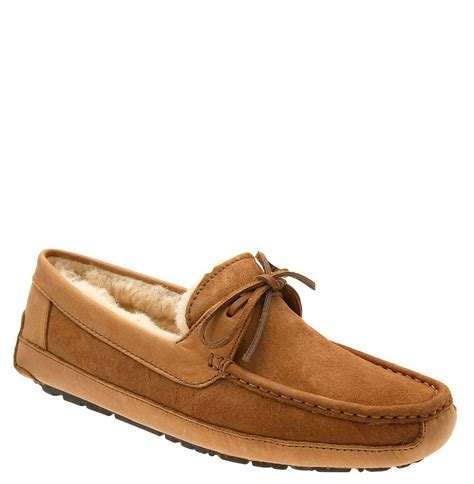 uggs slippers for ugg byron slipper in brown for chestnut suede lyst