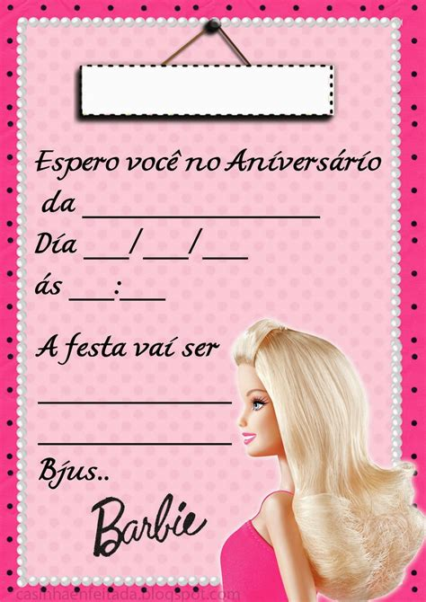 convites personalizado da barbie pictures to pin on pinterest convite aniversario da barbie pictures to pin on pinterest