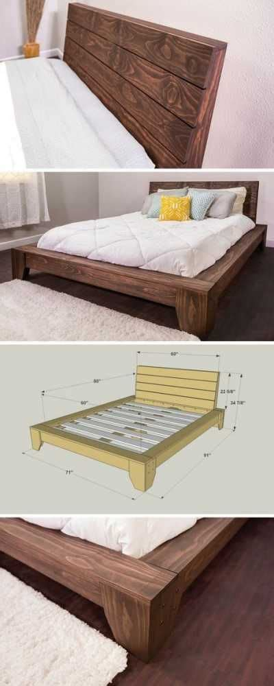 Reclaimed Wood Platform Bed Frame Platform Bed Platform Beds Bed Frame Reclaimed Wood
