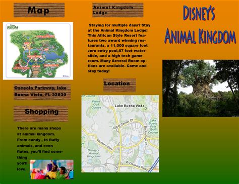 theme exles for students theme park brochure website of ocsclick