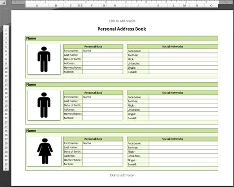 telephone address book template address list template exle mughals